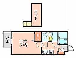 カーサ井尻[2階]の間取り