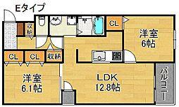 グリーンフルハウス[1階]の間取り