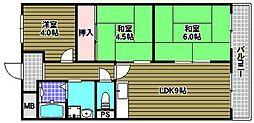 サルドセジュール[1階]の間取り