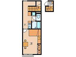 レオパレスグランドゥール太田[2階]の間取り