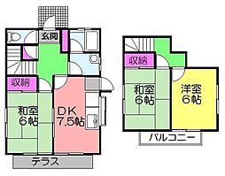 [一戸建] 千葉県八千代市大和田 の賃貸【千葉県 / 八千代市】の間取り