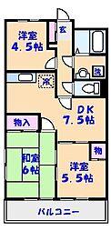 千葉県船橋市夏見2丁目の賃貸マンションの間取り