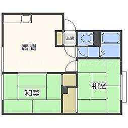 北海道札幌市東区北四十六条東14丁目の賃貸アパートの間取り