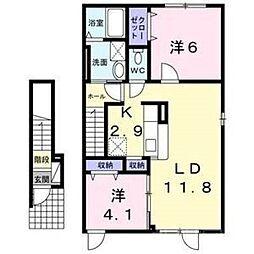 北海道札幌市東区北三十八条東4丁目の賃貸アパートの間取り