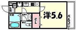リブリ・新神戸[2階]の間取り