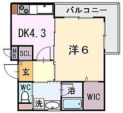 フローラ光陽[2階]の間取り