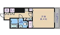 メゾン・ド・ヴィレ大阪城公園前 10階1Kの間取り