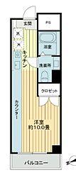 築地スカイレジテル[8階]の間取り