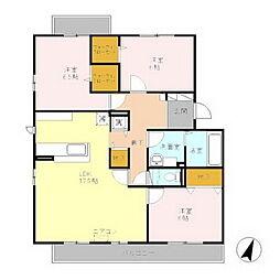 バーディープレイスA[1階]の間取り