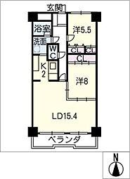 丸美ロイヤル新栄304号室[3階]の間取り