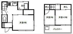 [一戸建] 埼玉県富士見市貝塚1丁目 の賃貸【/】の間取り