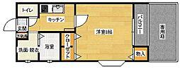 メゾンソレイユB棟[205号室]の間取り