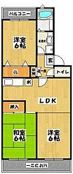 ローゼンハイム北見[1階]の間取り