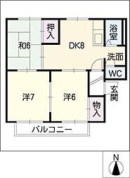 メゾン雅[2階]の間取り