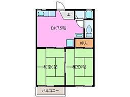 三重県四日市市松原町の賃貸マンションの間取り