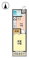 第三幸楽ビル[3階]の間取り