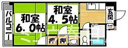 福岡県春日市日の出町6丁目の賃貸マンションの間取り