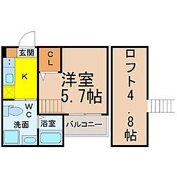 ル・フォティユII (ルフォティユツー)[2階]の間取り