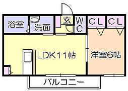 シャーメゾン新合川[101号室]の間取り