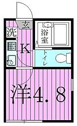 クレール西新井[2階]の間取り