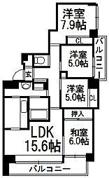 住友円山三条シティハウス[403号室]の間取り
