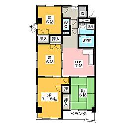 エステート23[5階]の間取り