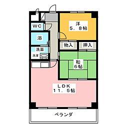 サンモールT・H[3階]の間取り