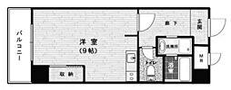 トーカンマンション東梅田 3階ワンルームの間取り