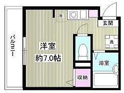 東京都足立区梅島2丁目の賃貸アパートの間取り