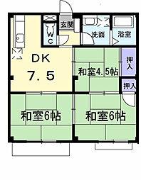 大阪府高石市取石1丁目の賃貸マンションの間取り
