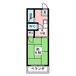 ルネ田代[3階]の間取り