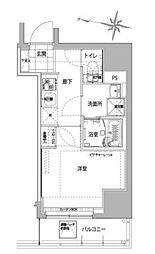 ハーモニーレジデンス横浜大通り公園レジデンス 9階1Kの間取り