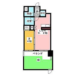 マストスタイル東別院[1階]の間取り