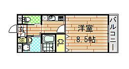 エムズコート小阪[202号室]の間取り
