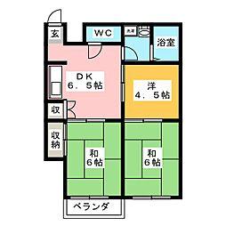 コーポウサミ[2階]の間取り
