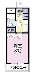 元木ハイツ[208号室]の間取り