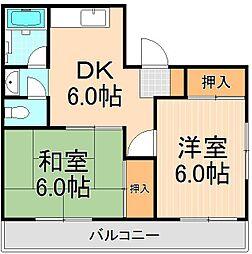 恩田コーポ[401号室]の間取り