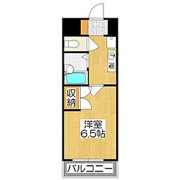 京卓ハイツ[506号室]の間取り