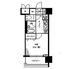 神奈川県横浜市鶴見区鶴見中央4丁目の賃貸マンションの間取り