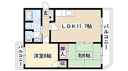 愛知県名古屋市南区要町4丁目の賃貸マンションの間取り