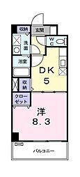 東京都国分寺市光町1丁目の賃貸マンションの間取り