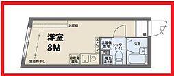 ココフラット田端I 1階ワンルームの間取り