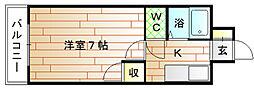 福岡県宗像市石丸3丁目の賃貸マンションの間取り