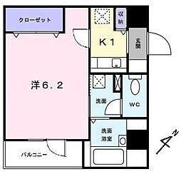 神奈川県横浜市港北区新横浜1の賃貸マンションの間取り