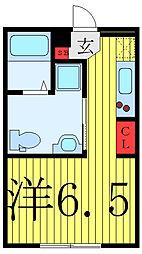 FARE駒込II 4階ワンルームの間取り