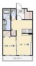ランドスケイプ[3階]の間取り