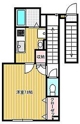東京都品川区小山2丁目の賃貸アパートの間取り