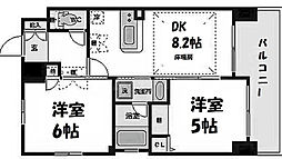大阪府大阪市北区中崎西4丁目の賃貸マンションの間取り