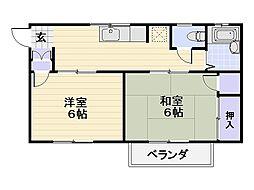 オザワビレッジ[1階]の間取り