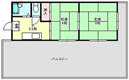 第三シャトーモリオカ[4階]の間取り
